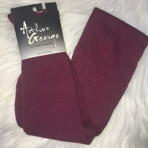 NWT🛍3/$30 Arthur George Wine Over the Knee Socks